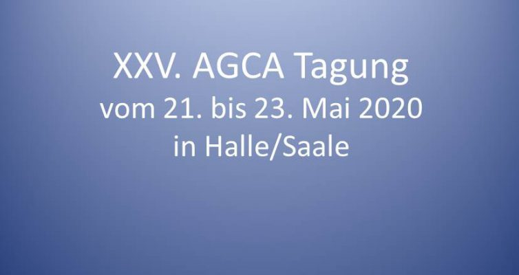 Call for Papers für die AGCA Tagung